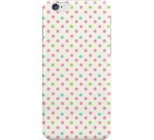 Vintage pattern with polka dots iPhone Case/Skin