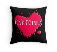 California Splash Heart California Throw Pillow