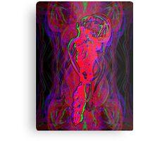 Neon Jellyfish Metal Print