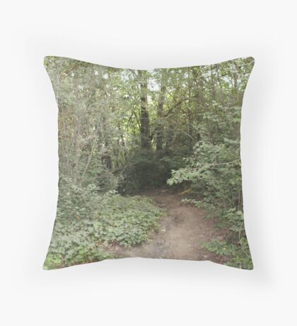 the walking track Throw Pillow