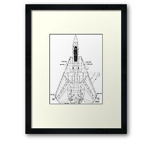 F14 Tomcat Diagram Framed Print