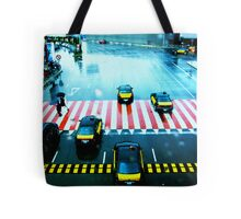 Cabs & the Candy striped crosswalk Tote Bag