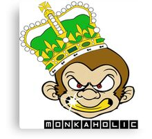 Monkaholic king  Canvas Print