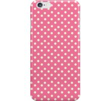 Vintage pink pattern with polka dots iPhone Case/Skin
