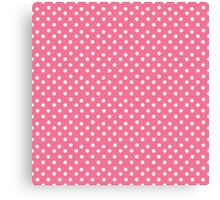 Vintage pink pattern with polka dots Canvas Print