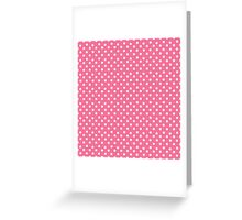 Vintage pink pattern with polka dots Greeting Card