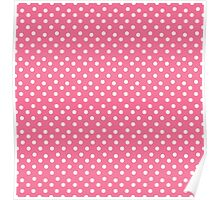 Vintage pink pattern with polka dots Poster