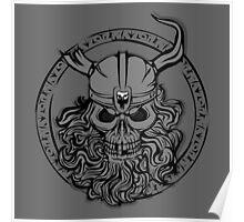 Viking Skull Poster