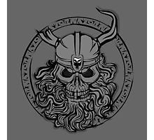 Viking Skull Photographic Print