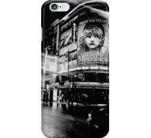 Black and White picture of a theater   iPhone Case/Skin