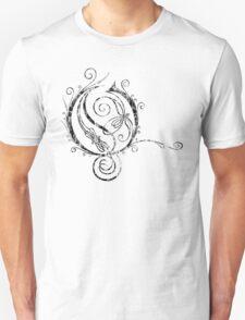 LATTICE LETTER O - destroyed black T-Shirt