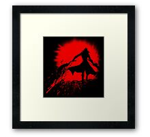 Born from blood Framed Print