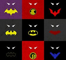 Minimalist Bat Family by Ryan Heller