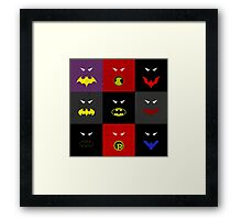 Minimalist Bat Family Framed Print