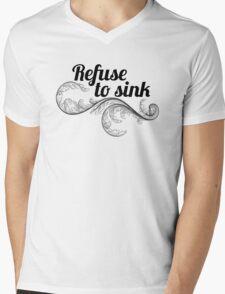 refuse to sink w leaf Mens V-Neck T-Shirt