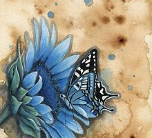 Blue Butterfly by Emily Luella