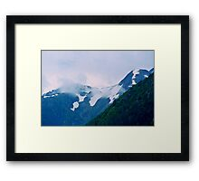Snow Capped Clouds Framed Print