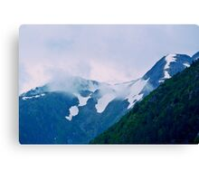 Snow Capped Clouds Canvas Print