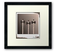 Pictures of Matchstick Men Framed Print