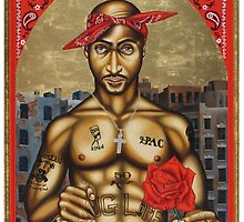 Pac, Henny & a Rose by Michael Wright