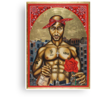 Pac, Henny & a Rose Canvas Print