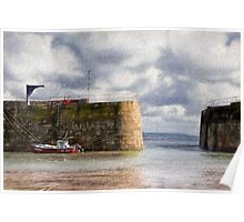 Mousehole Harbour - Impressions Poster