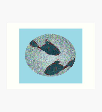 Flicked Fishes Art Print