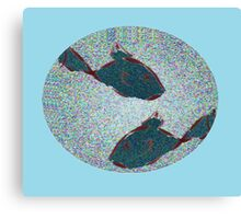 Flicked Fishes Canvas Print