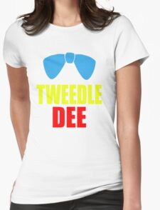 Tweedle Dee Womens Fitted T-Shirt