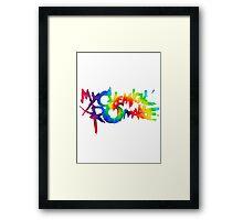 My Chemical Romance- Tie-dye Framed Print