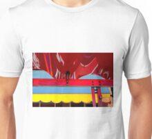 Plastic - Wavy Red, Scalloped Yellow Unisex T-Shirt