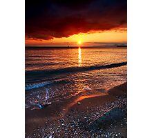 Sunset mist Photographic Print