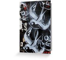skulls n swallows Greeting Card