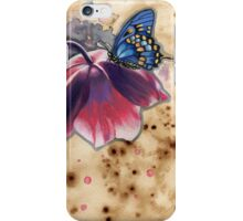Butterfly/Flower Illustration iPhone Case/Skin