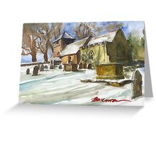 Church of St.James in Shipton, Shropshire Greeting Card