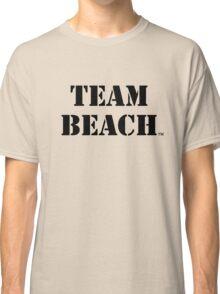 TEAM BEACH Basic Tees, Tanks, & Hoodies (Black Text) Classic T-Shirt