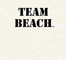 TEAM BEACH Basic Tees, Tanks, & Hoodies (Black Text) Hoodie