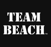 TEAM BEACH Basic Tees, Tanks, & Hoodies (White Text) by TEAMBEACHbasics