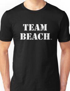 TEAM BEACH Basic Tees, Tanks, & Hoodies (White Text) Unisex T-Shirt