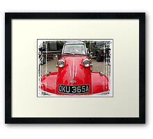 I have contacted the military and they are taking me to their leader! Framed Print