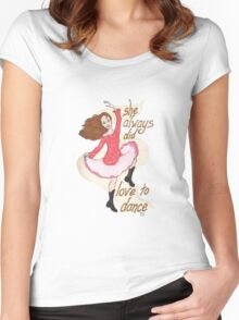 River, Dancing Women's Fitted Scoop T-Shirt