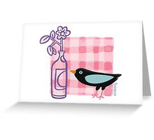 Breakfast with the Bird Greeting Card