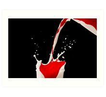 Blood and milk Art Print