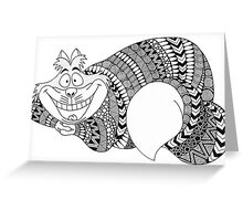 "Disney ""Cheshire Cat"" in Zentangle Patterns Greeting Card"