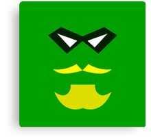 Minimalist Green Arrow Canvas Print