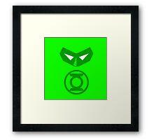 Minimalist Hal Jordan Framed Print