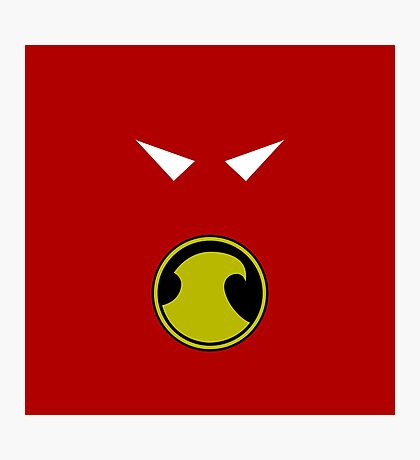 Minimalist Red Robin Photographic Print