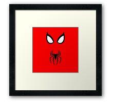 Minimalist Spider-Man Framed Print