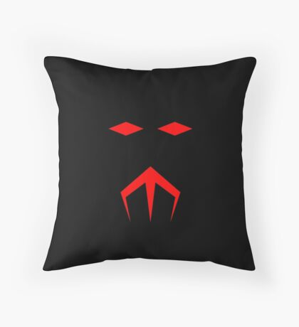 Minimalist Black Manta Throw Pillow