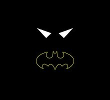 Minimalist Black Bat by Ryan Heller